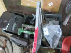 3 X SOUND METERS, CIRCULAR SAW, DRILL, PLUS A BOX OF SUNDRIES.