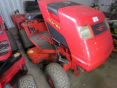 COUNTAX K15 HYDROSTATIC RIDE ON MOWER. WHEN TESTED WAS SEEN TO RUN, DRIVE AND MOWERS ENGAGED.