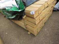 LARGE PACK OF FLAT MACHINED FINISH CLADDING TIMBER BOARDS 1.75M X 10CM APPROX, UNTREATED.