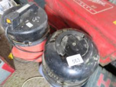 2 X VACUUM CLEANERS, 240 AND 110VOLT, UNTESTED, CONDITION UNKNOWN.