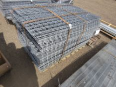 """PALLET CONTAINING APPROXIMATELY 280 X SQUARE MESH PANELS. 54CM X 137CM APPROX, 3"""" SQUARE HOLES."""