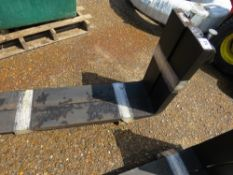 PAIR OF CLASS 3 FORKLIFT TINES, NEVER FITTED. 1200 X 150MM SIZE.