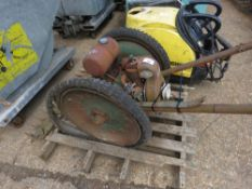 OLD PETROL ENGINED ALLEN TYPE SCYTHE, CONDITION UNKNOWN.