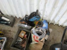 QUANTITY OF ASSORTED WELDING EQUIPTMENT TO INCLUDE 4X ROLLS OF MIG WIRE AND WELDING MASKS SOURCED FR