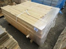 SMALL PACK OF UNTREATED GROOVED POSTS 9CM-122CM APPROX LENGTH.