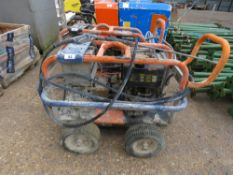 DIESEL ENGINED DIESEL POWER WASHER WITH HOSE AND LANCE. WHEN TESTED WAS SEEN TO RUN, PUMP NOT TESTED