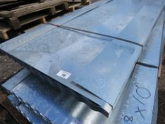 PACK OF 50NO 8FT LENGTH APPROX GALVANISED ROOFING SHEETS, CORRUGATED. 26G RATED. 90cm wide