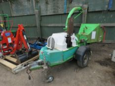 GREENMECH EC150/30 TOWED CHIPPER, POWERED BY DEUTZ AIR COOLED ENGINE. SN:1343M.
