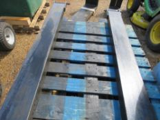 PAIR OF FORKLIFT EXTENSION TINES / SLEEVES. 6FT LENGTH APPROX.