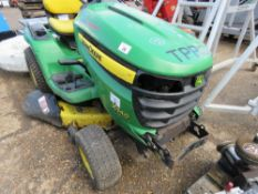 JOHN DEERE 540 RIDE ON PROFESSIONAL MOWER, PREVIOUS COUNCIL USEAGE. NO VAT ON HAMMER PRICE. STRAIGH