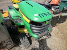 JOHN DEERE X540 PROFESSIONAL RIDE ON MOWER, PREVIOUS COUNCIL USEAGE. STRAIGHT FROM STORAGE, NO KEY