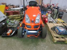 KUBOTA GR1600 II DIESEL RIDE ON MOWER WITH COLLECTOR. YEAR 2020. 2.6 RECORDED HOURS.