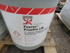 5 X DRUMS OF FOSROC PROOFEX LM BITUMOUS MEMBRANE SYSTEM.