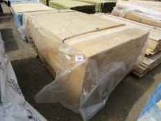 QUANTITY OF UNTREATED HIT AND MISS TIMBER CLADDING BOARDS. 9.5CM X 1.74M APPROX.