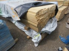 LARGE STACK OF UNTREATED MACHINED TIMBER STRIP CLADDING 1.8M LENGTH X 2CM X 7CM APPROX