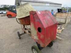 LISTER ENGINED DIESEL SITE CEMENT MIXER WITH HANDLE.