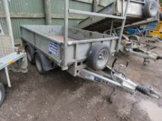 IFOR WILLIAMS LM85G TWIN AXLED DROP SIDED TRAILER SN:SCKD00000J5151710. 8FT X 5FT.