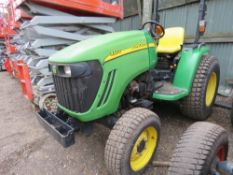JOHN DEERE 3320 4WD COMPACT TRACTOR, YEAR 2006 REGISTERED, ENGINE NEEDS ATTENTION. REG:YJ06 WVT, 239
