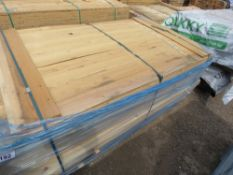 BUNDLES OF UNTREATED HIT AND MISS TIMBER CLADDING BOARDS. 9.5CM X 1.74M APPROX.