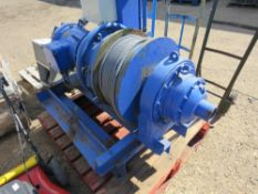 HEAVY DUTY BOAT YARD WINCH, 3 PHASE POWERED. WORKING WHEN REMOVED.