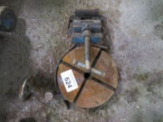 ROTARY TABLE AND MACHINE VICE SOURCED FROM WORKSHOP CLOSURE.