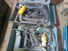 BOSCH AND MAKITA 110V ROTARY DRILLS SOURCED FROM DEPOT CLEARANCE.