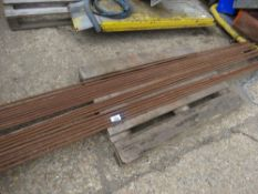 20 X REBAR CONCRETE REINFORCING BARS, MOST ARE 9FT LENGTH APPROX.