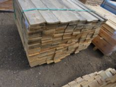 SMALL PACK OF HIT AND MISS AND FLAT FENCE BOARDS 83CM LENGTH APPROX.