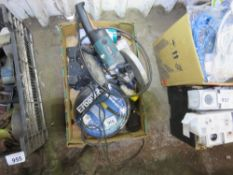 BOX CONTAINING ANGLE GRINDER, SOCKETS AND FUSES ETC. NO VAT ON HAMMER PRICE.