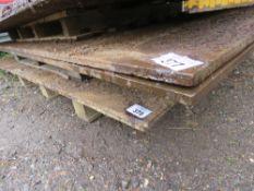 2 x heavy duty steel road plates. 1.2 x 2.4m x 15mm approx.