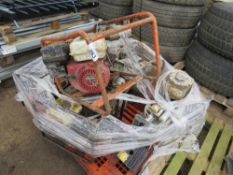 PALLET CONTAINING 7 X ASSORTED WATER PUMPS AND GENERATORS FOR SPARES/REPAIR.