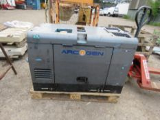 ARCGEN 300AVC SKID WELDER GENERATOR, YEAR 2003. WHEN TESTED WAS SEEN TO TURN OVER BUT NOT STARTING.
