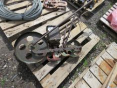 ANTIQUE PUSH ALONG SEED DRILL... NO VAT ON HAMMER PRICE.