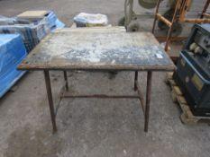 FOLDING PLUMBER'S WORK TABLE.