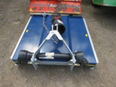 BEACO 4FT TRACTOR MOUNTED 4FT TOPPER MOWER WITH PTO SHAFT. LITTLE USED/SHOP SOILED.