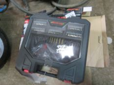 NIELSEN CORDLESS DRILL SET WITH BITS.