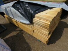 LARGE PACK OF PROFILED MACHINED CLADDING BOARDS, UNTREATED, 2M LENGTH X 12CM X 2CM APPROX.