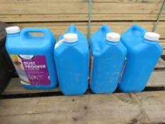 4 X CANS OF DUST PROOFER LIQUID.