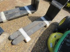 PAIR OF CLASS 3 FORKLIFT TINES, NEVER FITTED. 1100 X 125 SIZE.