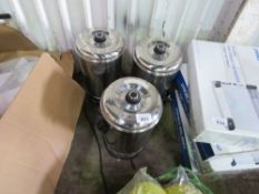 3 X 240 VOLT POWERED TEA URNS/WATER BOILERS DIRECT FROM LOCAL CAFE CLOSURE.