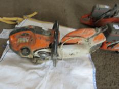 STIHL TS410 PETROL SAW, INCOMPLETE. CONDITION UNKNOWN. DIRECT FROM UTILITIES CONTRACTOR.
