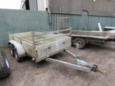 TWIN AXLED GP TRAILER, 2000KG RATED. 10FT X5FT APPROX. RING HITCH FITTED.