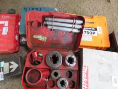 2X SETS OF MANUAL PIPE THREADER UNITS SOURCED FROM DEPOT CLEARANCE.