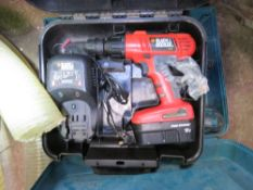 MAKITA AND BLACK AND DECKER BATTERY DRILLS.