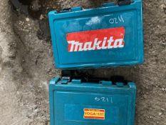 2 X MAKITA 110VOLT CORE DRILLS. CONDITION UNKNOWN.