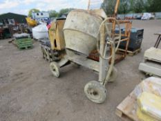 BARROWMIX DIESEL ENGINED CEMENT MIXER. UNTESTED.