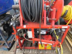 FLEXIAN LISTER 4 CYLINDER DIESEL ENGINED HIGH PRESSURE JETTER/WASHER UNIT, 407 REC HRS. YEAR 1999. U