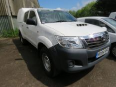 HILUX DOUBLE CAB PICKUP WITH TRUCKMAN TOP. REG:RO64 VFX. 81,955 REC MILES. WHEN TESTED WAS SEEN TO D