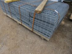 LARGE PACK OF MESH PANELS, 280NO TOTAL ON PALLET APPROX. SIZE 54CM X 138CM.. 70MM X 70MM SQUARES APP