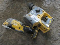 DEWALT BATTERY GRINDER AND DRILL, INCOMPLETE, CONDITION UNKNOWN